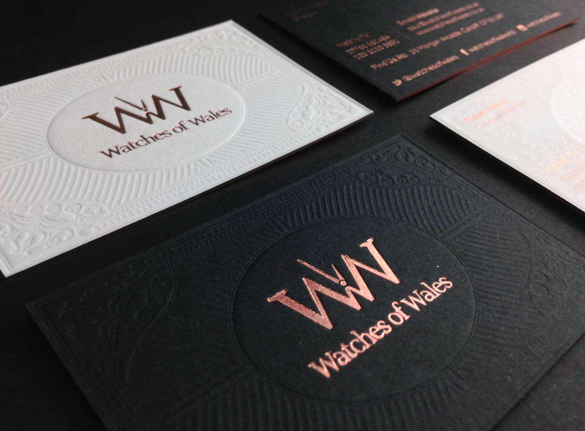 foil edge business cards